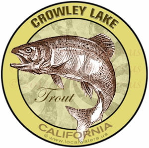 Crowley Lake California Trout sticker