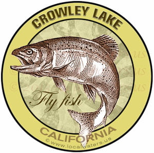 Crowley Lake Fly fish California sticker decal