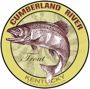 Cumberland River Trout fishing sticker Kentucky