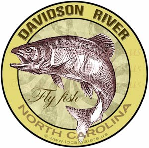 Davidson River Fly Fishing Sticker