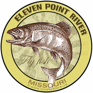 Eleven Point River sticker Flyfish Missouri