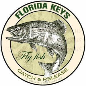 Florida Keys Sticker Fly Fish Catch and Release