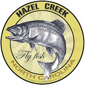 Hazel Creek Fly Fishing Sticker Trout