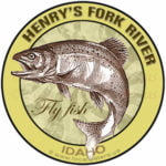 Henry's Fork River Fly Fish Idaho Sticker Decal