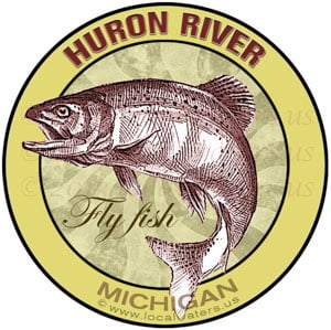 Huron River Fly Fish Michigan