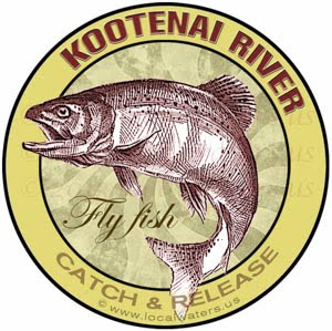 Kootenai River Fly Fish Catch & Release Montana Sticker Design