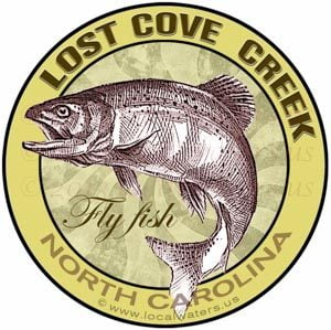 Lost Cove Creek Fly Fishing Sticker