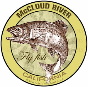McCloud River Fly fish California sticker decal