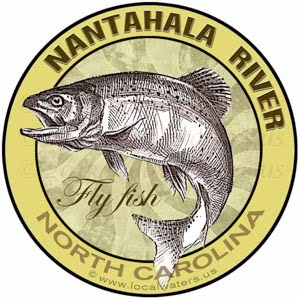 Nantahala River Fly Fishing Sticker