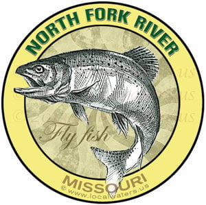 North Fork River Fly Fishing Sticker Missouri