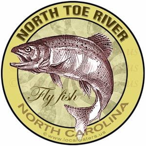 North Toe River Fly Fishing Sticker