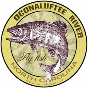 Oconaluftee Rive Fly Fishing Sticker