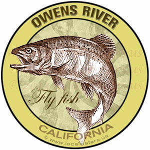 Owens River Flyfish California sticker