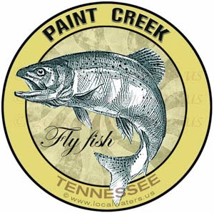 Paint Creek Sticker Fly Fish Tennessee