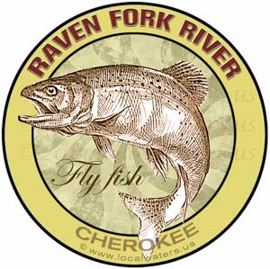 Raven Fork Cherokee Fly Fishing Sticker