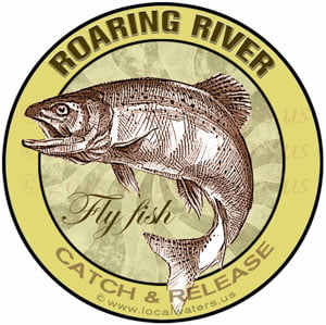 Roaring River sticker Flyfish fishing decal