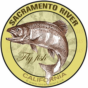 Sacramento River Flyfish California sticker