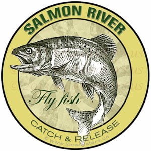 Salmon River Fly Fish Sticker Catch Release Idaho Washington