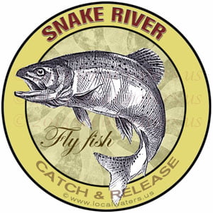 Snake River Catch & Release Fly Fish Sticker
