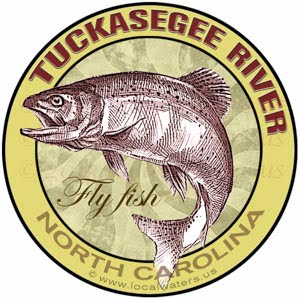 Tuckasegee River Fly Fishing Sticker