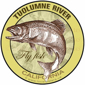 Tuolumne River Flyfish California sticker
