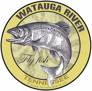 Watauga River Sticker Fly Fish Tennessee