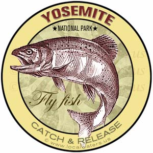 Fly Fishing Sticker Yosemite National Park
