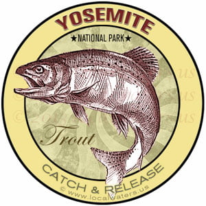 Yosemite National Park Trout sticker