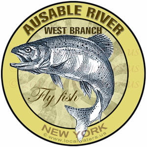 Ausable River West Branch Fly Fish New York