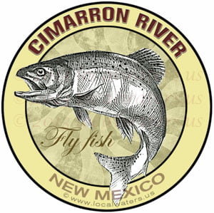 Cimarron River Sticker New Mexico Fly Fish