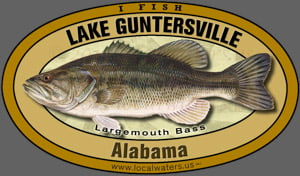 Lake Guntersville sticker Largemouth Bass