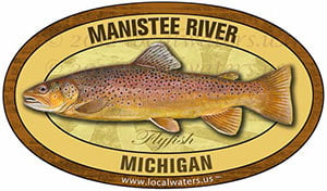 Manistee River Fly Fishing Sticker Michigan