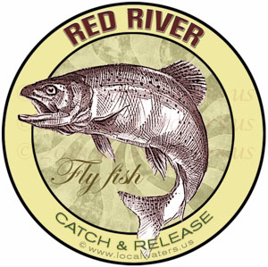 Red River Catch Release Fly Fish Design