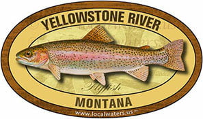 Yellowstone River Fly Fishing sticker Montana