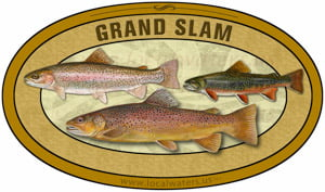 Grand Slam sticker custom design Brook Trout Brown Trout Rainbow Trout