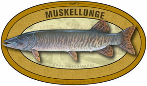 Muskellunge Musky Muskie sticker custom design