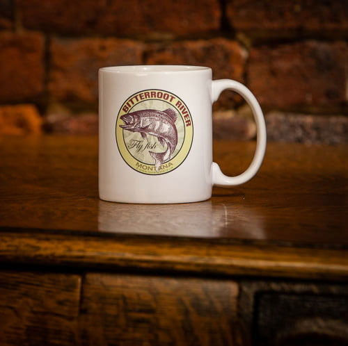 Bitterroot River Fly Fish Montana Coffee Mug.