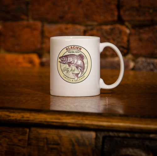 Glacier National Park Fly Fishing Coffee Mug