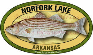 Norfork Lake Striped Bass Sticker