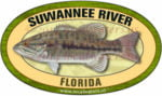 Suwannee River Florida Sticker Bass
