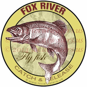 Fox River Fly Fish Michigan Salmon Trout Steelhead