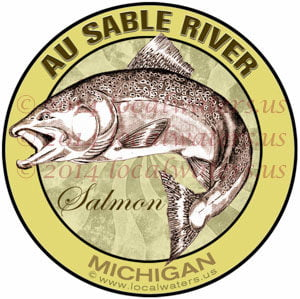 Au Sable River Michigan Salmon Fishing