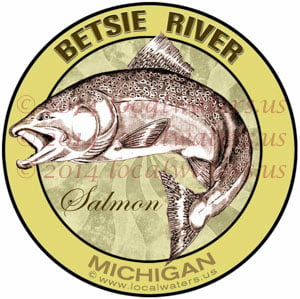 Betsie River Michigan Salmon Fishing