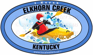 Elkhorn Creek Kentucky Kayak Sticker