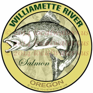 Williamette River Oregon Salmon Fishing