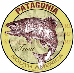Patagonia Trout Fishing Sticker Decal