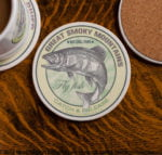 Great Smoky Mountains National Park Fly Fishing sandstone coaster