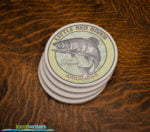 Little Red River Trout Fishing sandstone coaster set