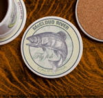 McCloud River Fly Fishing sandstone coaster