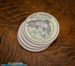 Rocky Mountain National Park Fly Fishing sandstone coaster set